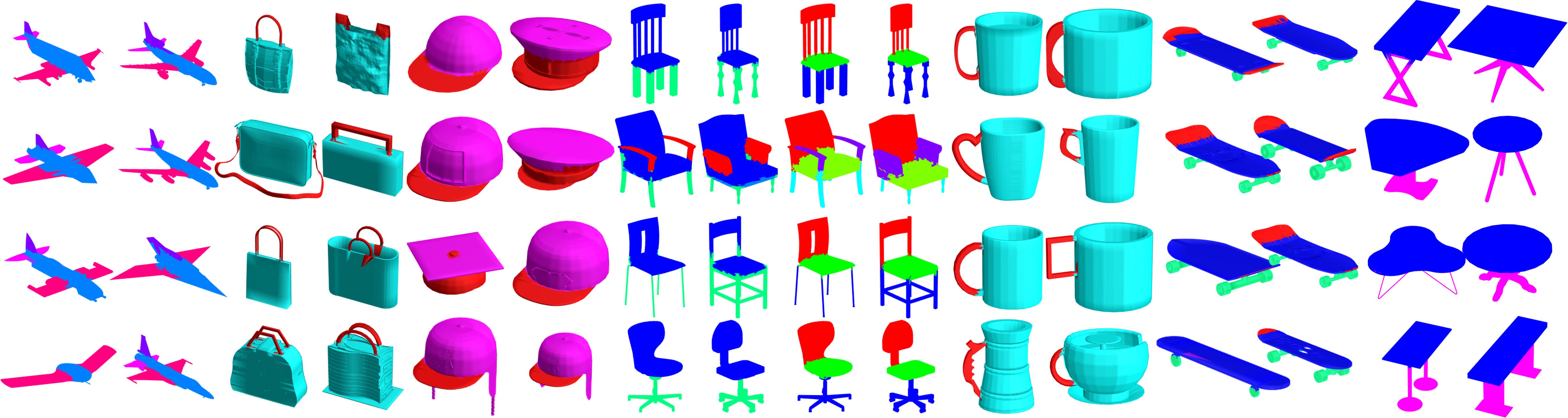 Correspondence 3D Segmentation Examples